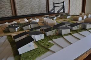 公営住宅地の模型