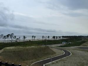 笹山地区から観る菖蒲田浜