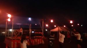 住民/ボランティア混ざっての盆踊り大会!