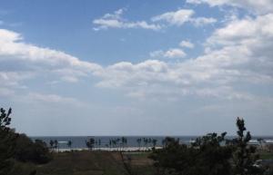 きずな公園から見る菖蒲田浜