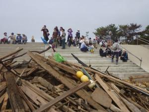 菖蒲田浜被災