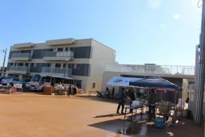会場の菖蒲田浜地区町営住宅