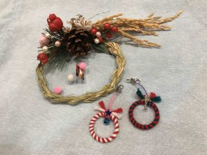 七ヶ浜の稲穂を使ったお正月飾り(安城きずなプロジェクトチームから寄贈)